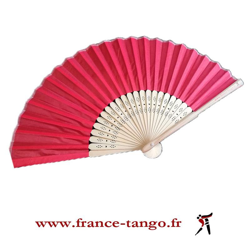 EVENTAIL 23 CM ROUGE FRANCE TANGO